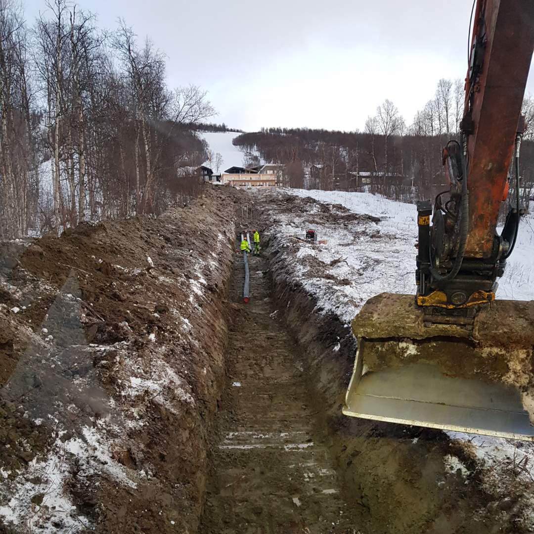 Contractor förser Hemavan med vatten