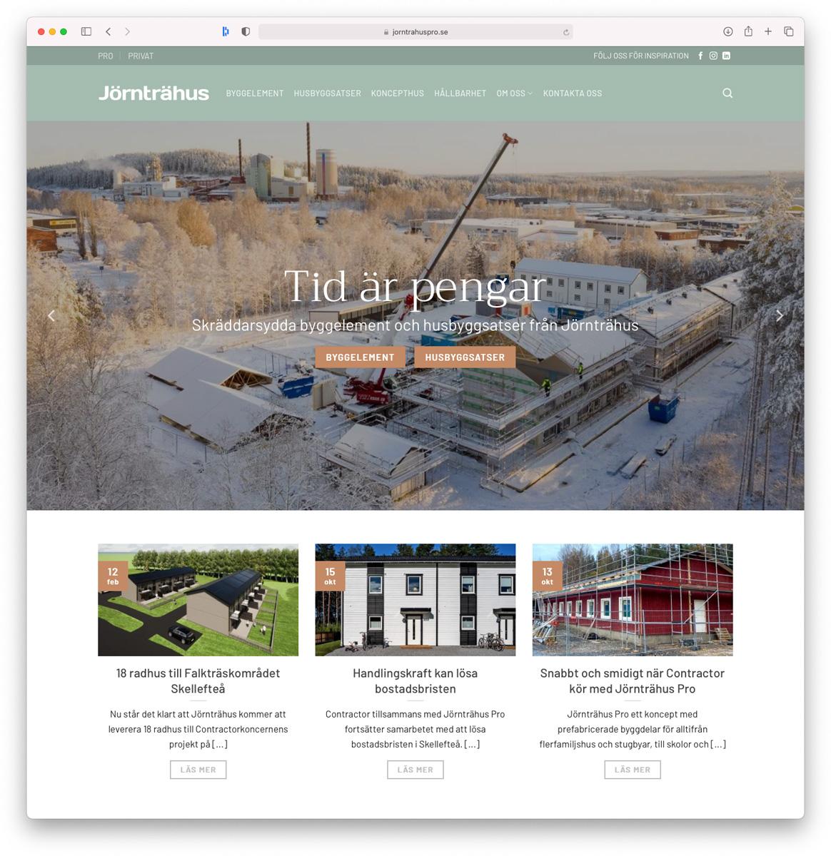 Jörnträhus Pro hemsida lanserad
