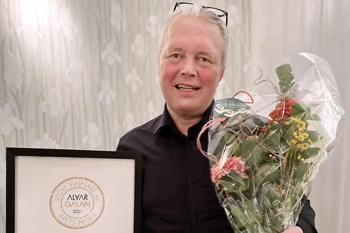 Contractors egen Fredrik – årets profil på Alvargalan 2021