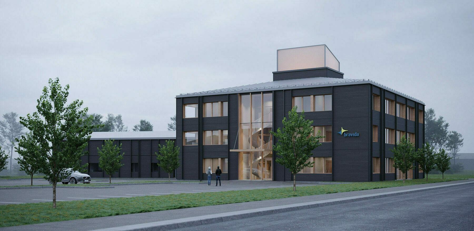 Contractor bygger spektakulära kontorslokaler åt Umeå Logistikpark