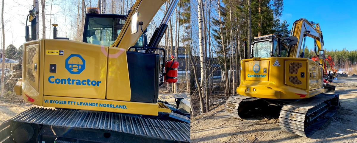 Ny grävmaskin på Contractor Mark